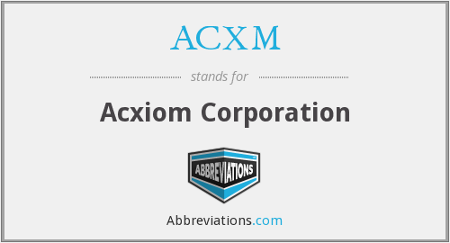 What does ACXM stand for?