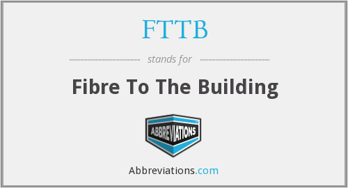 FTTB - Fibre To The Building