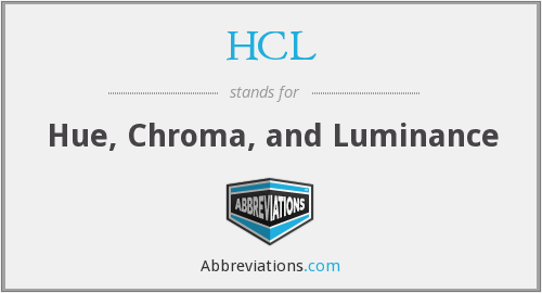 HCL - Hue, Chroma, and Luminance