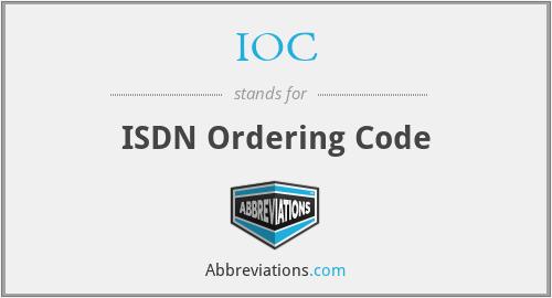 IOC - ISDN Ordering Code