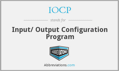 What does IOCP stand for?