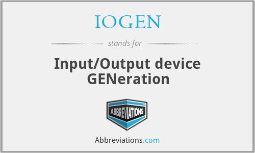 IOGEN - Input/Output device GENeration