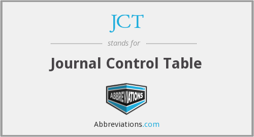 JCT - Journal Control Table
