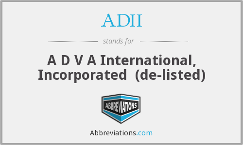 ADII - A D V A International, Inc.