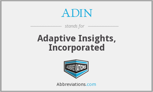 What does ADIN stand for?