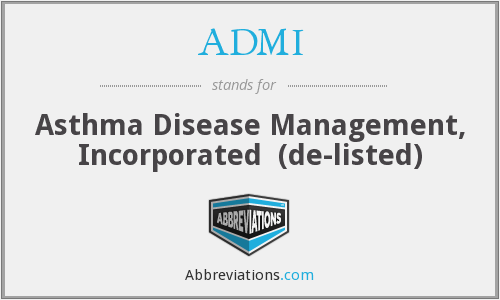 ADMI - Asthma Disease Management, Inc.
