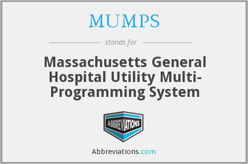 MUMPS - Massachusetts General Hospital Utility Multi- Programming System