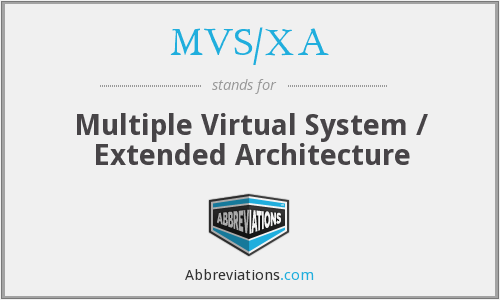What does MVS/XA stand for?
