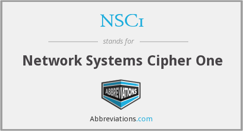 What does NSC1 stand for?
