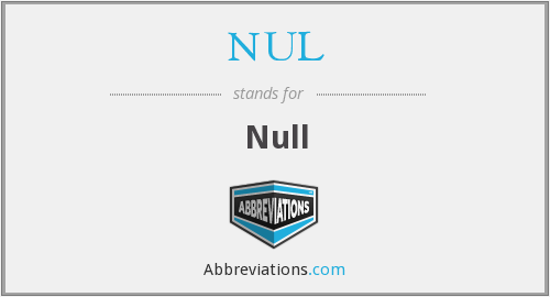 What does NUL stand for?