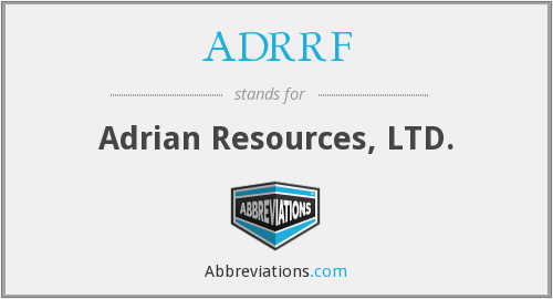What does ADRRF stand for?