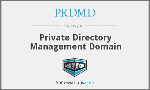 PRDMD - Private Directory Management Domain