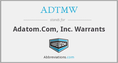 What does ADTMW stand for?