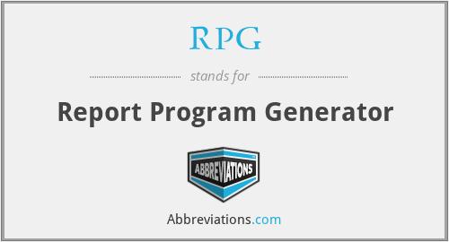 RPG - Report Program Generator