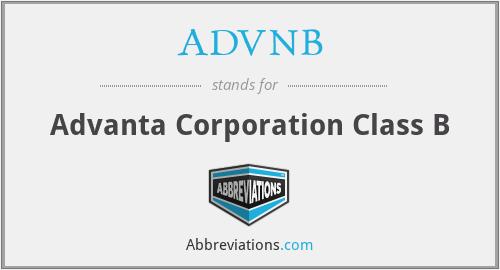 ADVNB - Advanta Corporation Class B