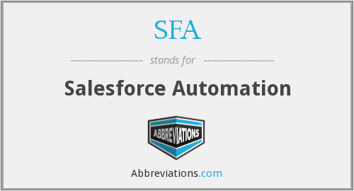 SFA - Salesforce Automation