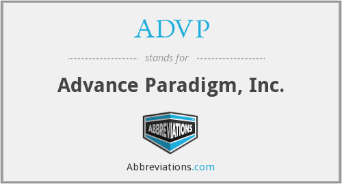 ADVP - Advance Paradigm, Inc.