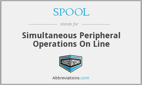 SPOOL - Simultaneous Peripheral Operations On Line