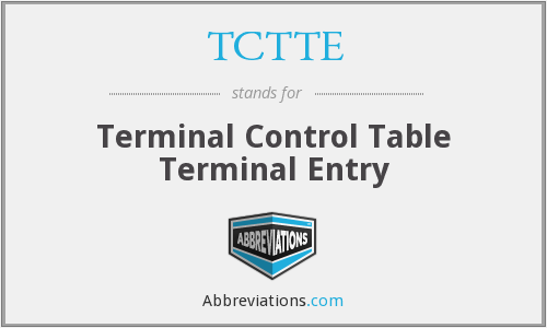 What does TCTTE stand for?