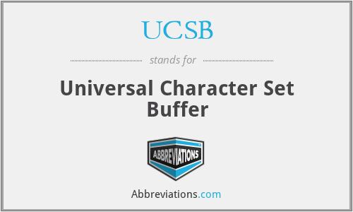 UCSB - Universal Character Set Buffer