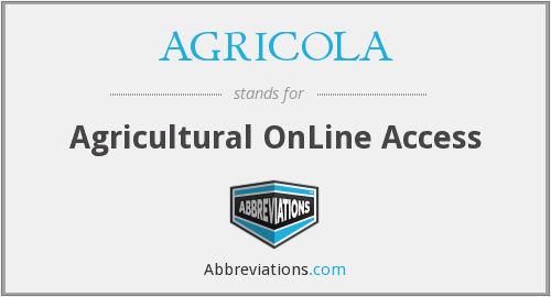 AGRICOLA - Agricultural OnLine Access