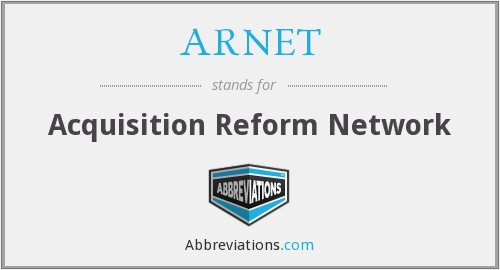 What does ARNET stand for?