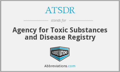 What does ATSDR stand for?