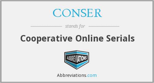 What does CONSER stand for?