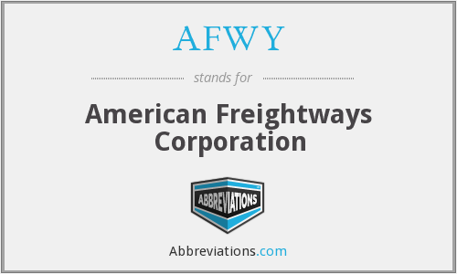 AFWY - American Freightways Corporation