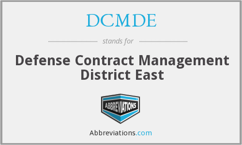 DCMDE - Defense Contract Management District East