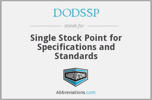 What does DODSSP stand for?