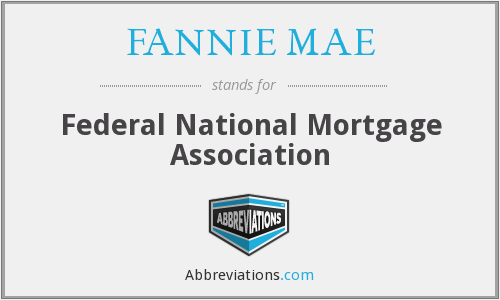 What does FANNIE MAE stand for?
