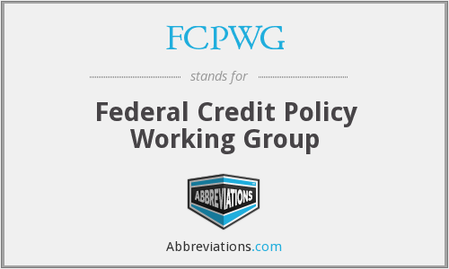 What does FCPWG stand for?