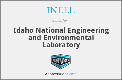 What does INEEL stand for?