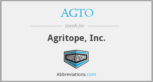What does AGTO stand for?
