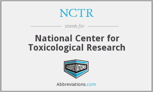 What does NCTR stand for?
