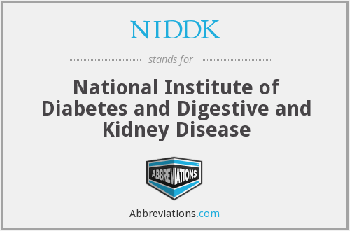 NIDDK - National Institute of Diabetes and Digestive and Kidney Disease