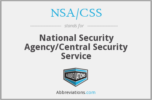 What does NSA/CSS stand for?