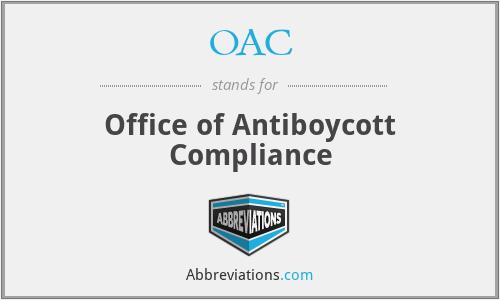 OAC - Office of Antiboycott Compliance
