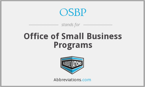 OSBP - Office of Small Business Programs