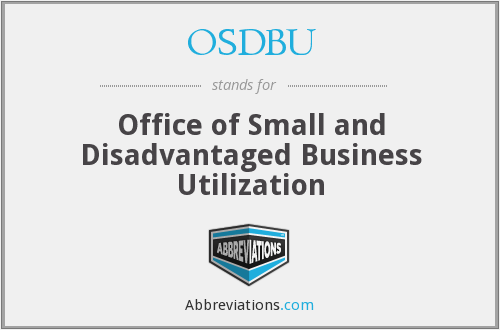 OSDBU - Office of Small and Disadvantaged Business Utilization