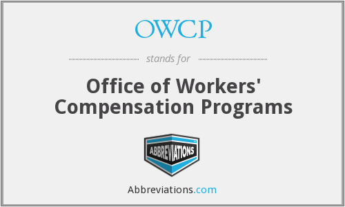 OWCP - Office of Workers' Compensation Programs