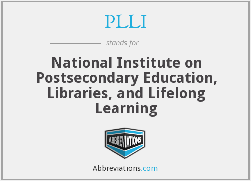 PLLI - National Institute on Postsecondary Education, Libraries, and Lifelong Learning