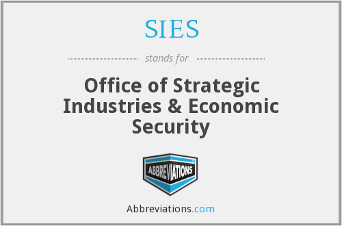 What does SIES stand for?
