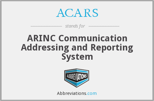 ACARS - ARINC Communication Addressing and Reporting System