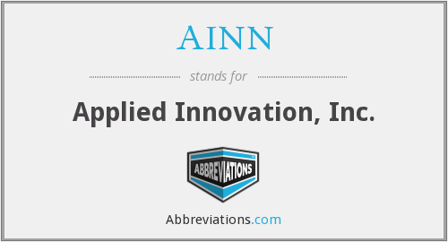 AINN - Applied Innovation, Inc.