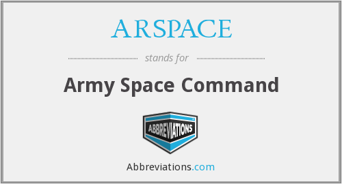 ARSPACE - Army Space Command