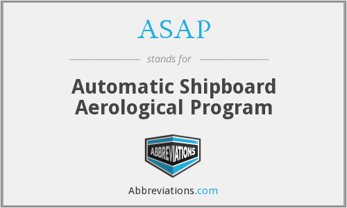 ASAP - Automatic Shipboard Aerological Program