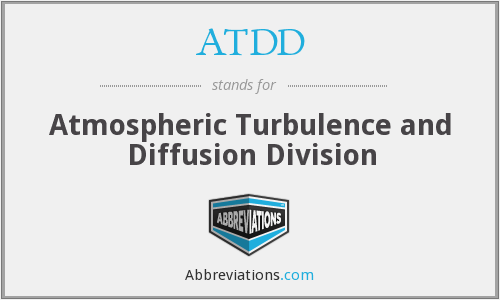 ATDD - Atmospheric Turbulence and Diffusion Division