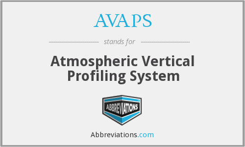 AVAPS - Atmospheric Vertical Profiling System